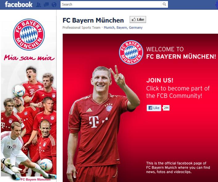 FCB bei Facebook