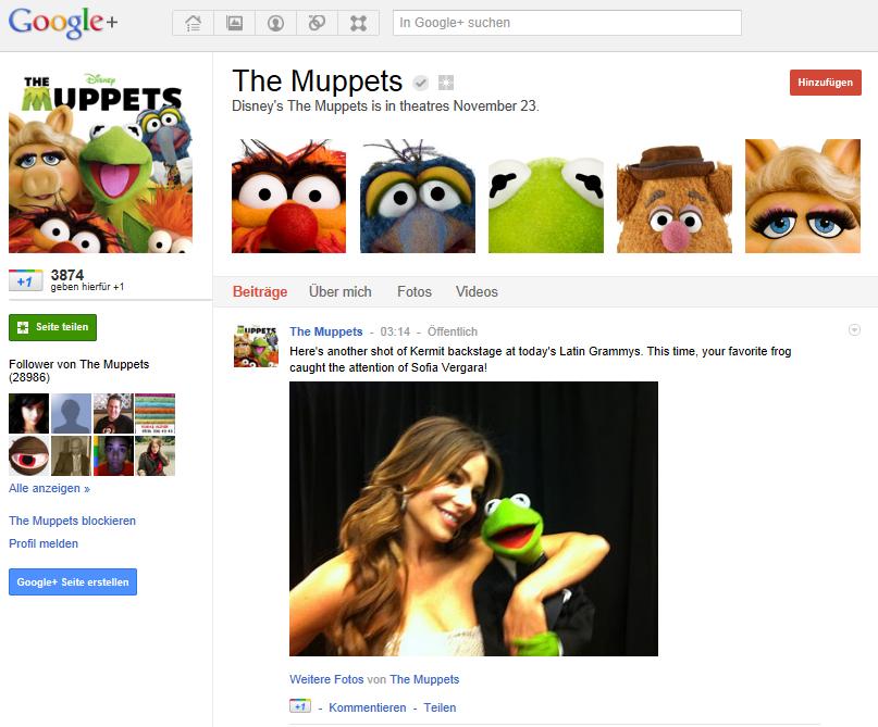 Die Muppets bei Google+