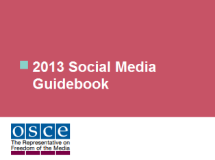 2013 OSCE Social Media Guidebook